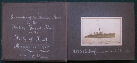 Lady Constance Madden Photograph Album of Surrender German Imperial Fleet 1918